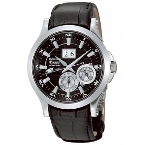Seiko Premier Horlogeband SNP005P1, SNP001P1 en SNP003P1 Zwart Leer - 20mm