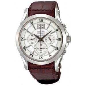 Seiko Premier Horlogeband SPC059P1 Bruin Leer