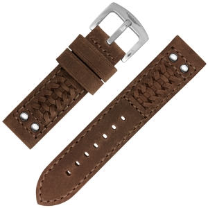 Strap Works Woven Ranger Horlogebandje Medium Brown