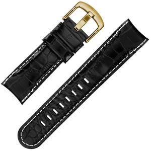 TW Steel Grandeur TW96 TWA96 Horlogeband Zwart Kroko Kalfsleer - 24mm