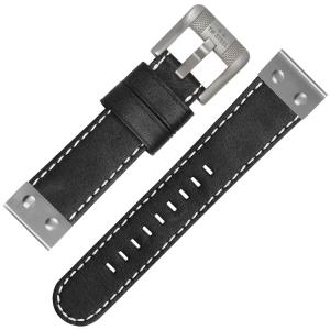 TW Steel Horlogebandje CS6 - Zwart 24mm