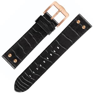 TW Steel Slim Line Horlogebandje TW1303, TW1308 - Zwart 22mm