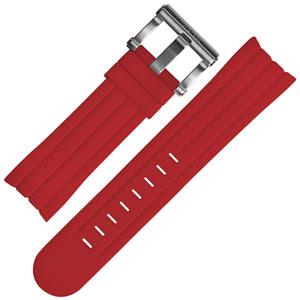 TW Steel Grandeur Tech Horlogebandje Rood Rubber TW124 TW124R - 22mm