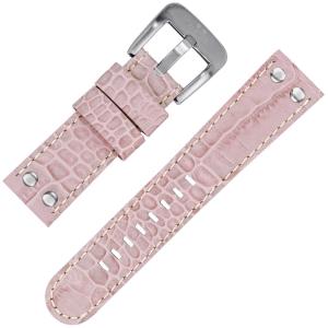 TW Steel Horlogeband TW36 Lichtroze Kroko Kalfsleer 22mm