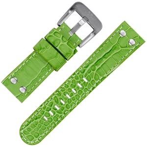 TW Steel Horlogeband Groen Kroko Kalfsleer 22mm
