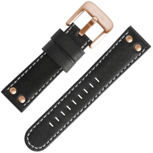 TW Steel Horlogebandje TW417, TW419 Zwart 24mm