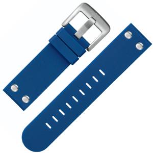 TW Steel Horlogebandje TW500 Blauw Rubber Stalen Studs 22mm