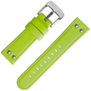 TW Steel Horlogeband Fluor Groen Kalfsleer 24mm