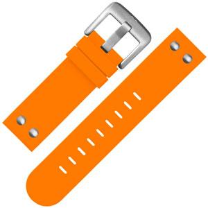TW Steel Horlogebandje TW530 Oranje Rubber Stalen Studs 22mm
