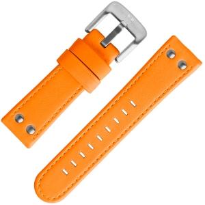 TW Steel Horlogeband Fluor Oranje Kalfsleer 24mm