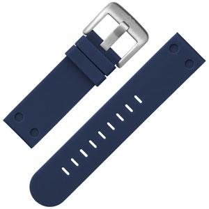TW Steel Horlogebandje Donkerblauw Rubber 22mm