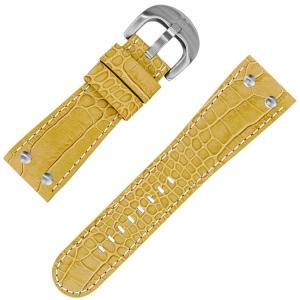 TW Steel Goliath Horlogebandje Beige Kroko Kalfsleer 26mm