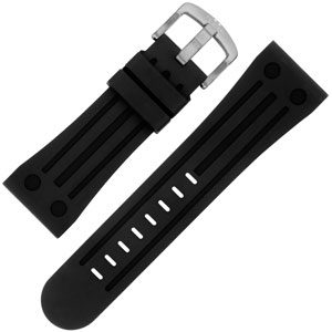 TW Steel Horlogebandje TW17, TW17, TW20, TW79, TW118 - Zwart Rubber 26mm
