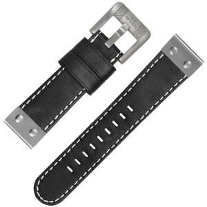 TW Steel Horlogebandje CS5 - Zwart 22mm