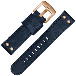 TW Steel Horlogebandje CS61, CS63 Blauw 22mm