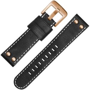 TW Steel Horlogebandje CS72, CS74 Zwart 24mm