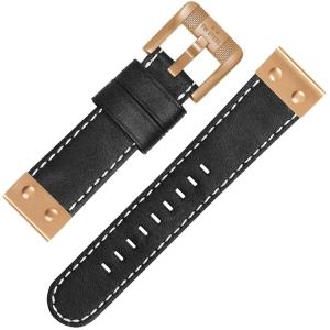TW Steel Horlogebandje CS75 Zwart 22mm