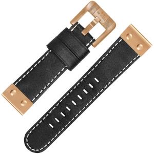 TW Steel Horlogebandje CS76 Zwart 24mm