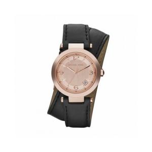 Michael Kors MK2323 Horlogeband Zwart Leer
