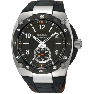 Seiko Sportura Horlogeband SRK023P2 Zwart Leer