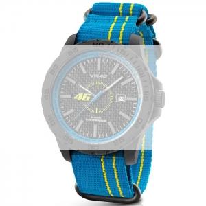 TW Steel VR11 Valentino Rossi VR|46 Horlogebandje - Lichtblauw Nylon 20mm