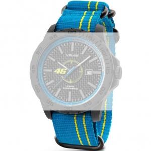 TW Steel VR12 Valentino Rossi VR|46 Horlogebandje - Lichtblauw Nylon 22mm