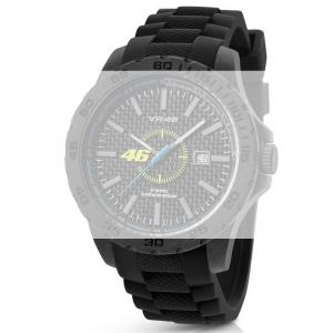TW Steel VR8 Valentino Rossi VR|46 Horlogebandje - Zwart Rubber 22mm