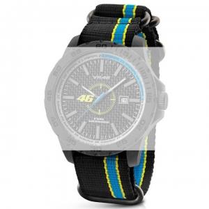 TW Steel VR9 Valentino Rossi VR|46 Horlogebandje - Zwart Nylon 20mm