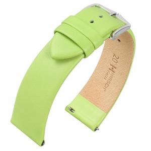 Hirsch Viazza Kalfsleer Horlogebandje met Quick-Release Groen