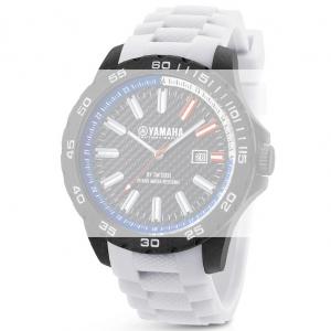 TW Steel Y6 Yamaha Factory Racing Horlogebandje - Wit Rubber 22mm