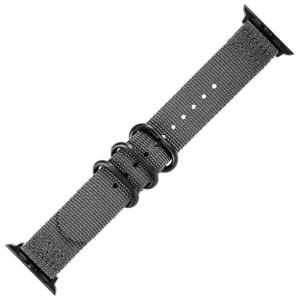 Apple Watch Two Piece NATO Nylon Horlogeband Grijs