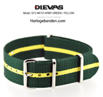 Army Green Yellow NATO G10 Military Nylon Strap - SS