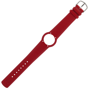Arne Jacobsen Horlogeband voor Bankers, City Hall, Roman & Station Watch - Rood