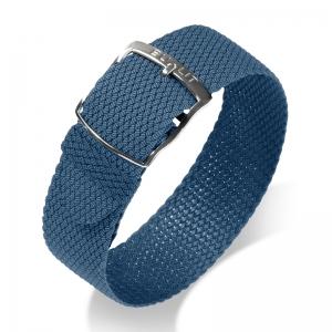 Eulit Perlon Horlogeband Kristall Blauw