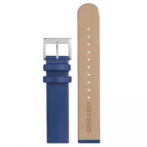 Mondaine Horlogebandje Blauw Leer 22mm