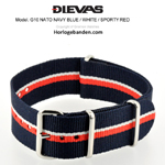 Navy Blue White Orange NATO G10 Military Nylon Strap - SS