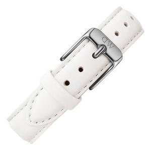 Daniel Wellington 14mm Petite Bondi Wit Leer Horlogebandje RVS Gesp