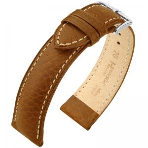 Hirsch Boston Horlogebandje Buffelkalf Goudbruin