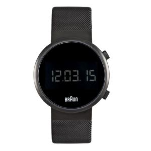 Braun Horlogeband voor BN0036BKBKMHG - Mesh Milanese Zwart