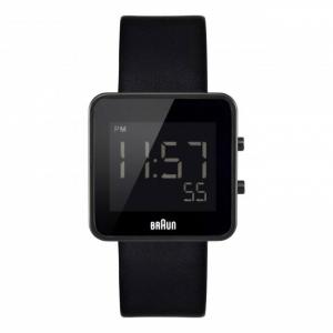 Braun Horlogeband voor BN0046BKBKG - Zwart Leer
