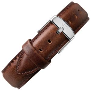 Daniel Wellington 18mm Classic Bristol Donkerbruin Leer Horlogebandje RVS Gesp