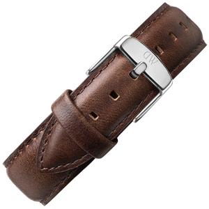 Daniel Wellington 20mm Classic Bristol Donkerbruin Leer Horlogebandje RVS Gesp