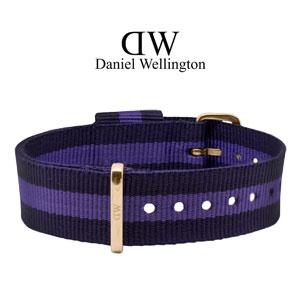 Daniel Wellington 18mm Classic Lady Swansea NATO Horlogebandje Rosé Gouden Gesp