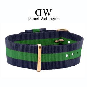 Daniel Wellington 20mm Classic Warwick NATO Horlogebandje Rosé Gouden Gesp