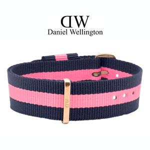 Daniel Wellington 18mm Classic Lady Winchester NATO Horlogebandje Rosé Gouden Gesp