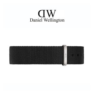 Daniel Wellington 14mm Petite Cornwall Zwart Nato Horlogebandje RVS Gesp