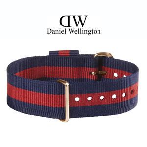 Daniel Wellington 20mm Classic Oxford NATO Horlogebandje Rosé Gouden Gesp