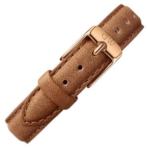 Daniel Wellington 12mm Petite Durham Bruin Leer Horlogebandje Rosé Gesp