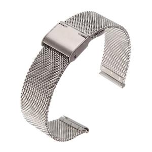 Milanese Horlogebandje Fijn Geweven Mesh Staal