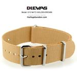 Golden Brown NATO G10 Military Nylon Strap - SS/MATTE